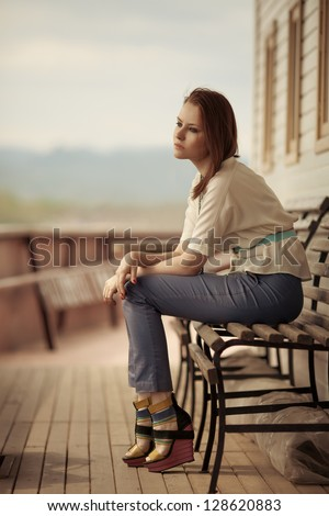 Sexy Woman Outdoor