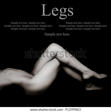 Sexy Woman's Legs with Text Space above