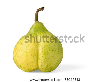 Sexy yellow pear isolated on white
