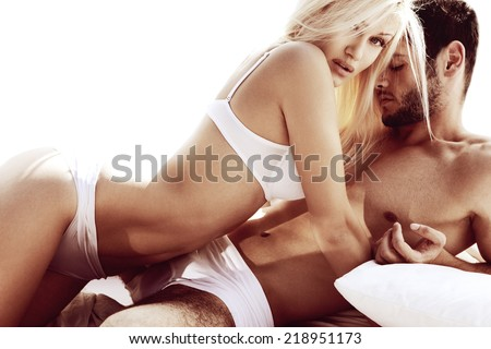 Sexy young passionate couple