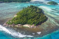 Seychelles island nature vacation holidays symbolic picture paradise ocean aerial photo travel