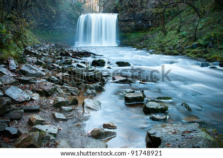 Sgwd Yr Eira Waterfall in the Brecon Beacons