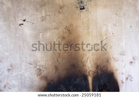 shabby burnt wall