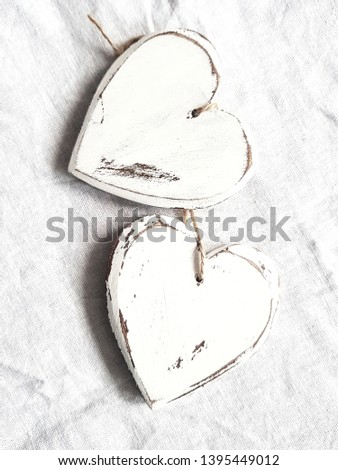 shabby chic white decor heart
