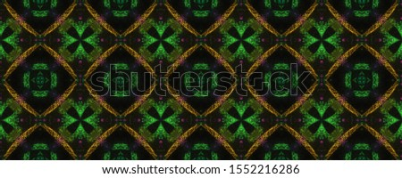 Shabby Grunge Bulbs. Peel Effect. Tones Geometry. Aquarelle on Black Background. Neon Strokes. Ethnic Pattern. Boho Endless Fabric. Endless Pen drawn Crankle.