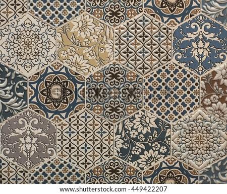 shabby mosaic tiles
