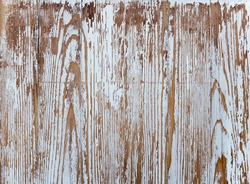 Shabby paint on a wooden wall