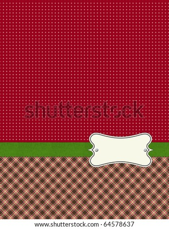 Shabby Patterns double with green ribbon