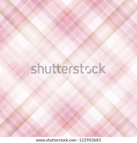 Shabby textile plaid Background with colorful beige, pink and white stripes