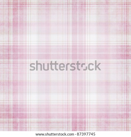 Shabby textile plaid  Background with colorful pink and white stripes