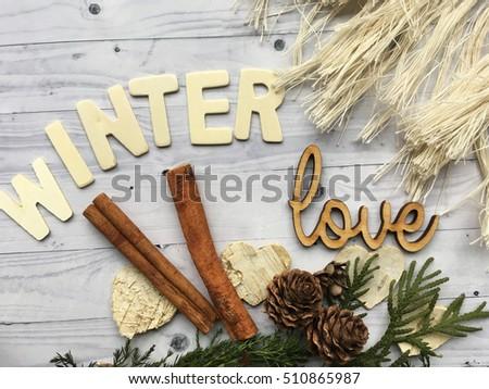 Rustic Winter Background Hello