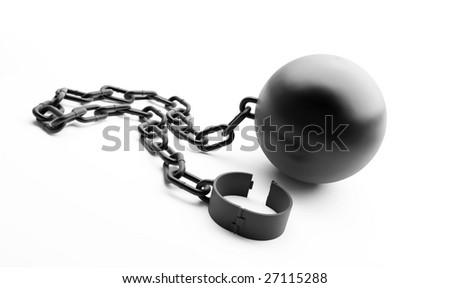 shackle on a white background