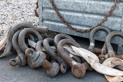 Shackles are on a construction site