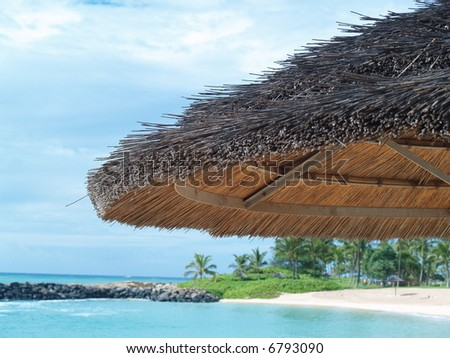 shade on a beach - stock photo