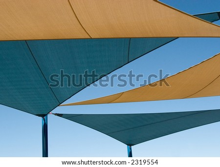 Shade Structure over Playground in Las Vegas, Nevada