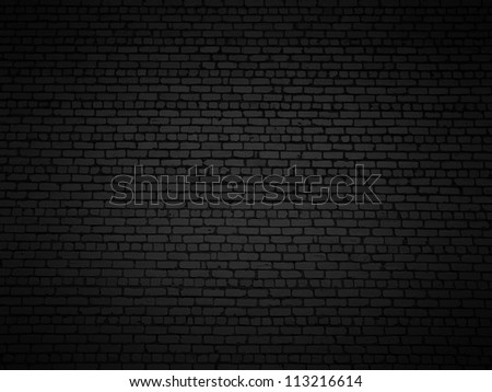 Shaded brick wall texture closeup background.