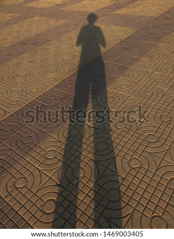 Shadow for people and shadow for man