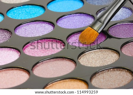 shadow kit with brush for make-up