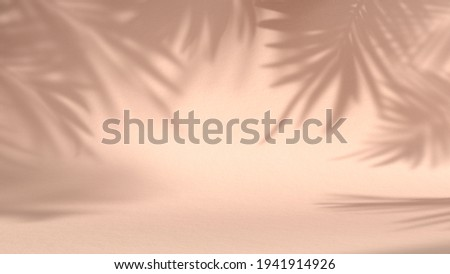 shadow leaves in blank minimal pink natural background. concept scene stage showcase, product, nature, perfume, promotion sale, banner, presentation, cosmetic. 3D render