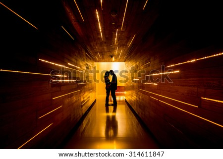 Shadow of love at end of tunnel #314611847