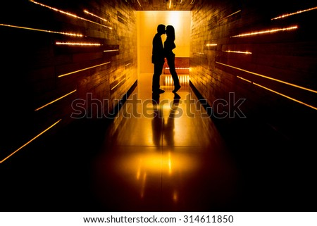Shadow of love at end of tunnel #314611850