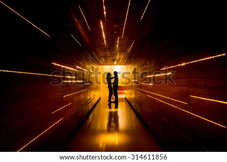 Shadow of love at end of tunnel #314611856