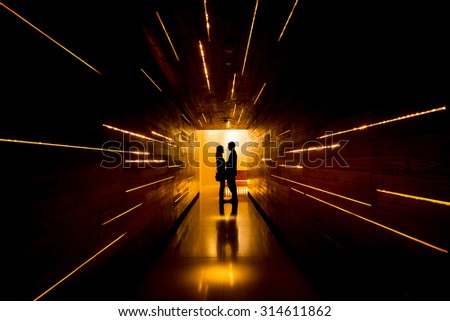 Shadow of love at end of tunnel #314611862