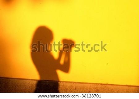 shadow of photographer