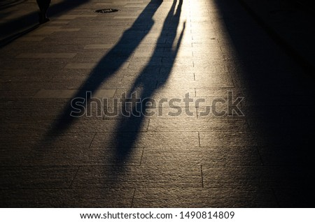 shadow of two people on street #1490814809