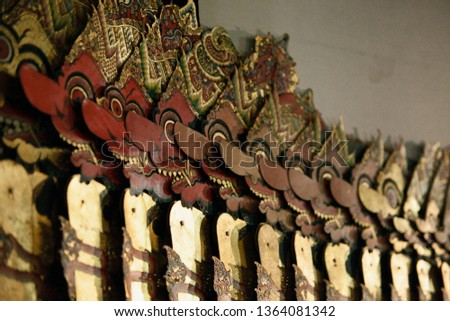 Shadow puppet or wayang kulit rahwana evil characters in the story of Ramayana #1364081342