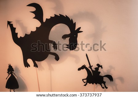 shadow puppets of dragon ...