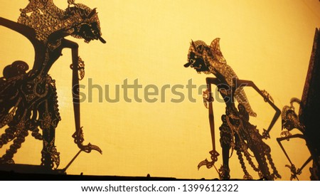Shadow puppets or or Shadow puppets typical of Java, from Indonesia  #1399612322