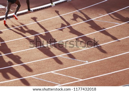 Shadows of 5000 m international runners #1177432018