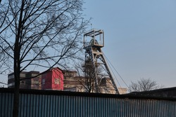 Shaft tower (mining), industrial landscape of Upper Silesia