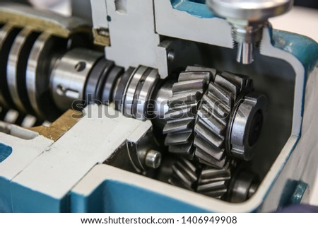 shaft with gears in the section. sectional reducer