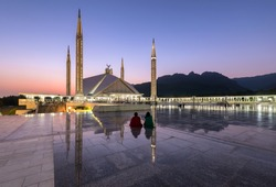 Shah Faisal Mosque is one of Asia's largest mosque located in Islamabad capital of Pakistan.