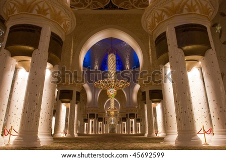 Shaikh zayed mosque in Abu Dhabi, UAE - Interior