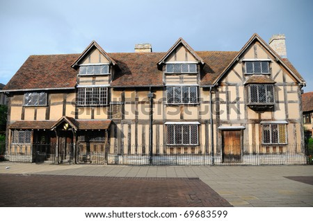 Shakespeare's birthplace - England