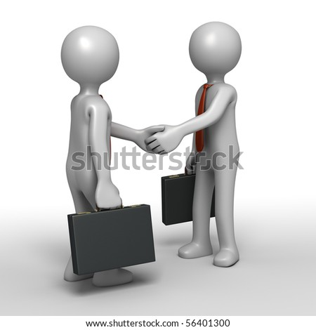 Shaking hands in successful agreement - stock photo