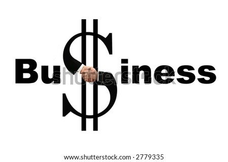 shaking hands - money - stock photo