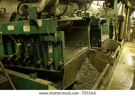 Shale shakers on an offshore oil rig