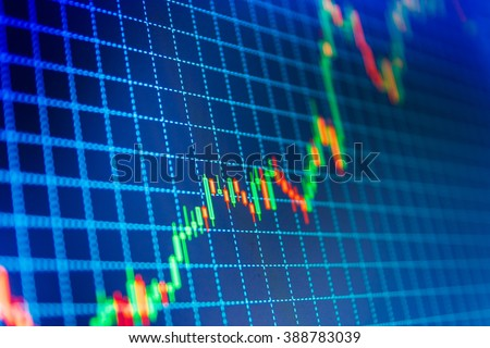 Free Forex Market Charts On Computer Display. Analysing Stock