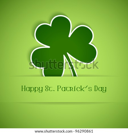 Shamrock, clover design, perfect for St. Patrick's Day. Vector available in my port.