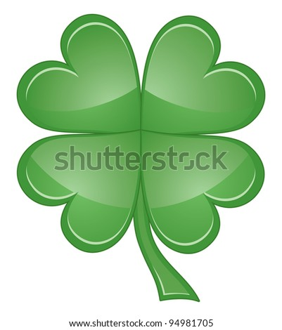 Shamrock or Four Leaf Clover is an illustration of a four leaf clover or shamrock that can be used for St. Patrick's Day.
