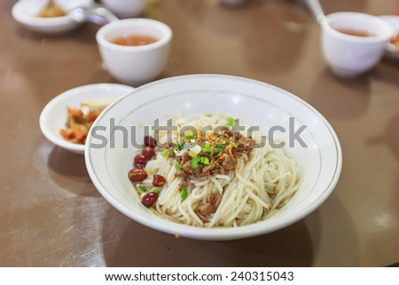 Shan style Burmese rice noodle with pork