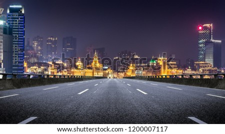 Shanghai at night. Located in The Bund (Waitan). It is a waterfront area in central Shanghai, one of the most famous tourist destinations in Shanghai, China. #1200007117