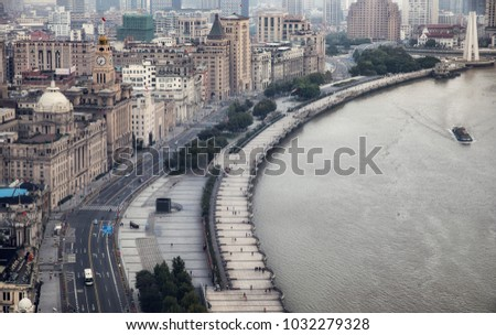 Shanghai Bund buildings #1032279328