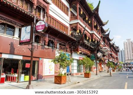 Shanghai, China - on July 31, 2015:Yu yuan garden of traditional Characteristic commercial street,  Yu yuan garden is a famous commercial street in Shanghai??