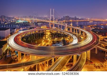 Shanghai city architectural landscape