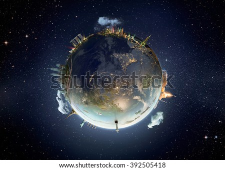 Shanghai city, Travel our Earth planet. The world monument concept. Extremely detailed image including elements furnished by NASA.